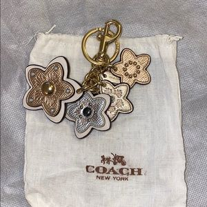 Coach bag charm/keychain